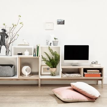 Stacked shelf modules by Muuto. http://decdesignecasa.blogspot.it/