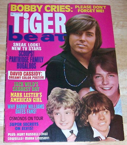Tiger Beat Magazine; October, 1970 (Bobby Sherman/David Cassidy Cover)