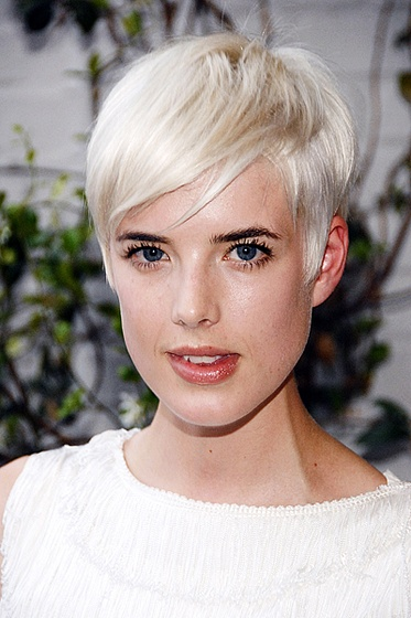 Agyness Deyn Short Hair - Platinum Perfection