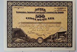 Industria Aurului S.A. in Abrud 500 lei 1924