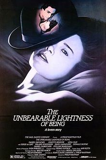 The Unbearable Lightness of Being is a 1988 American film adaptation of the novel of the same name by Milan Kundera, published in 1984.[1][2] Director Philip Kaufman and screenplay writer Jean-Claude Carrière show Czechoslovak artistic and intellectual life during the Prague Spring of the Communist period, before the Soviet and Warsaw Pact invasion in August 1968, and detail the moral–political effects and personal consequences upon a bohemian ménage à trois: a medical doctor and his two…
