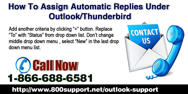 "Sometimes you are away from office or enjoying your summer vacations and if in that period of time someone send you some important mail whose reply you have to send immediately then for such purposes or for such situations Outlook and Thunderbird is providing their users a feature ""Automatic Reply"" which allows you to send automatic replies to your important mails when you are offline."