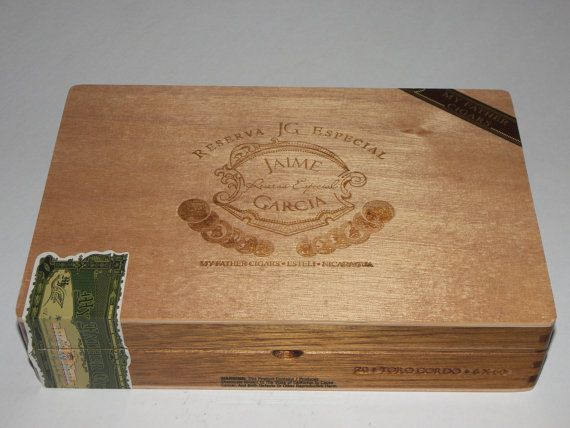 Nicaragian plain wooden cigar boxes by funeclectichf on etsy 7 00