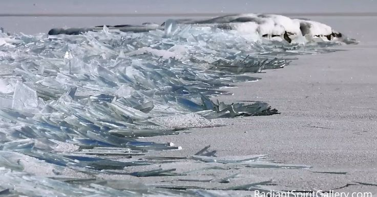Video of Frozen Waves on Lake Superior