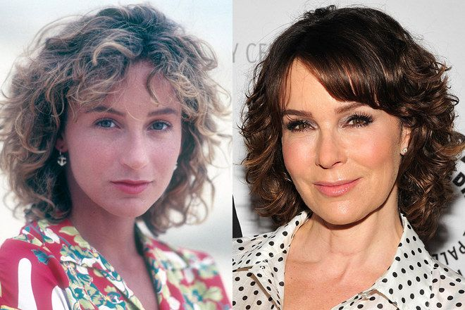 Totally unrecognizable. I can't understand it! (Yes, also much older in right side pic - but, still!) Jennifer Grey before and after nose job