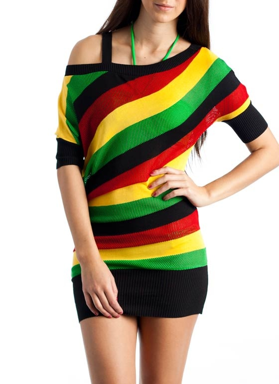 slouchy rasta stripe tunic top $29.90  If I had the butt for it!