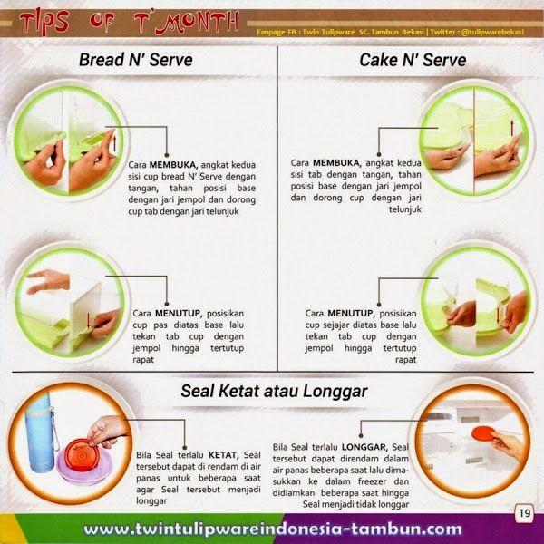 Tip's Of Month #Tulipware , Tips Membuka Menutup Bread N' Serve dan Cake N' Serve