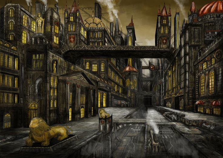 steampunk landscape - Google Search | Landscape ...