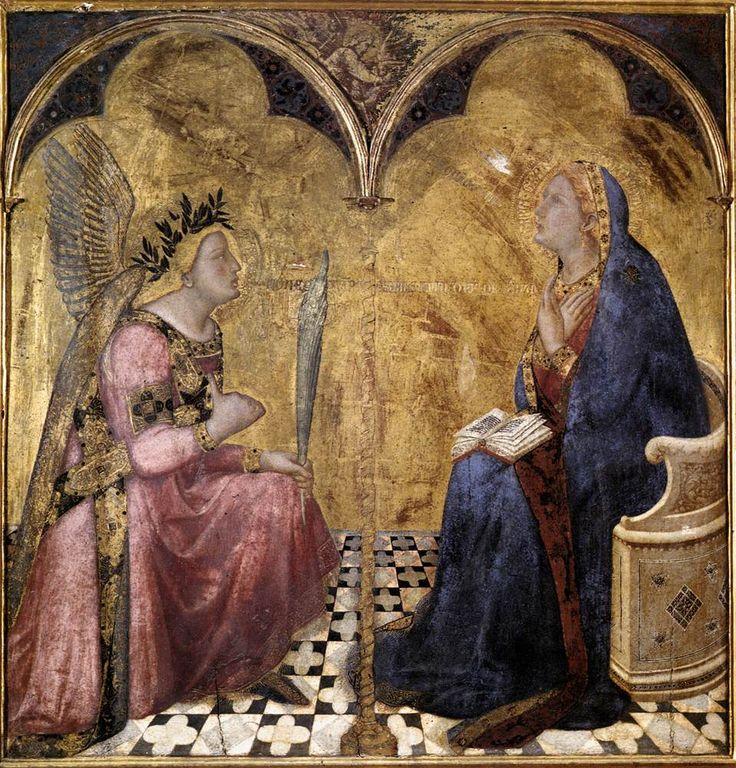 Annunciazione (1344) tempera su tavola - Ambrogio Lorenzetti - Pinacoteca Nazionale di Siena