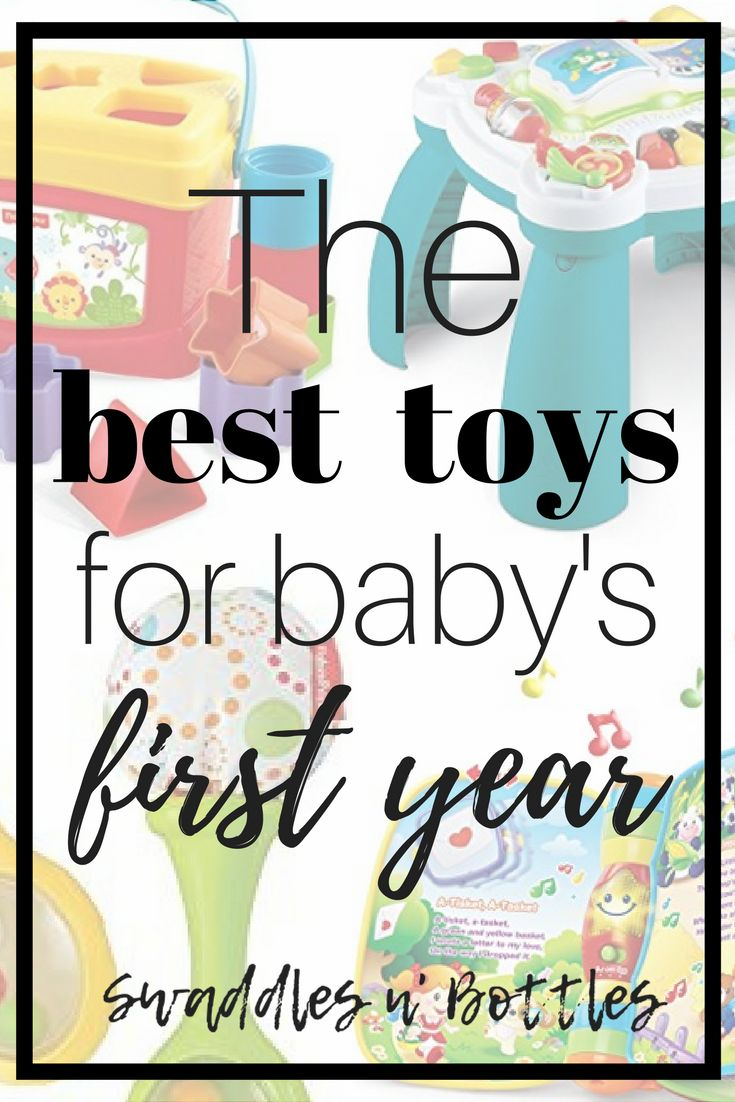 The 5 Best Toys for Baby's First Year. A great list of toys to help baby develop important skills starting from birth to 12 months. Great read for new and pregnant moms!