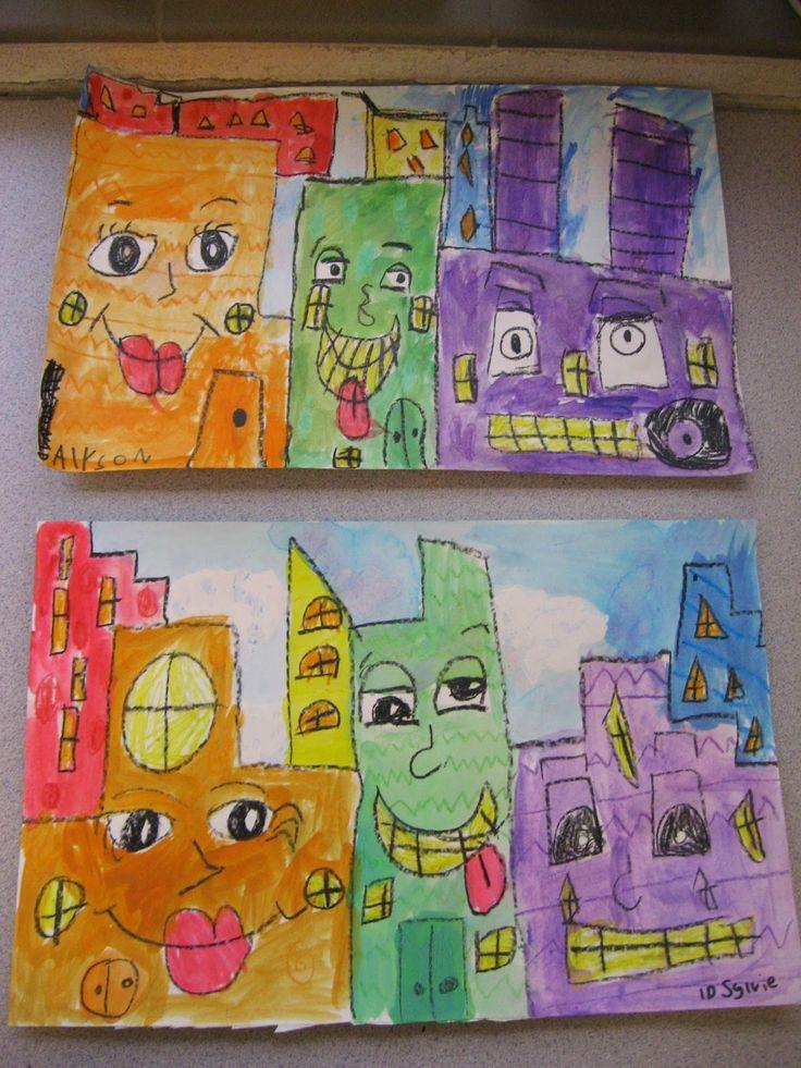 Jamestown Elementary Art Blog: 1st Grade: James Rizzi Buildings