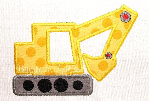 Excavator Machine Embroidery Design
