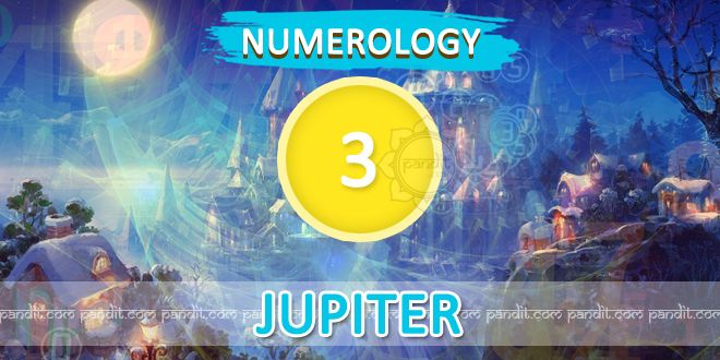 """"""" Numerology Number 3 """" by Numerologist  Rahul Kaushal --------------------------------------------------------- Numerology Number 3 : This number is represented by the planet jupiter a symbol of morality, mercy, love & justice as well as religious matters normally the natives represented by this number are found to be lucky & they are confident about their own decisions.  http://www.pandit.com/numerology-number-3-chart/"""