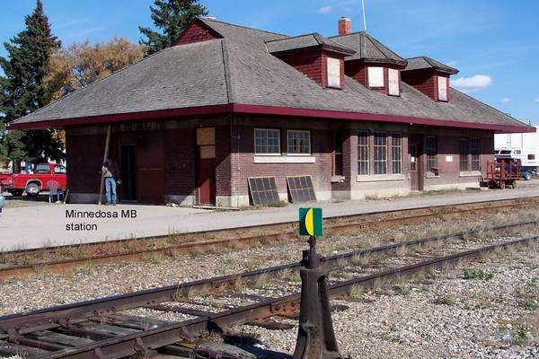 Old CPR Station, Minnedosa, Manitoba.  Built c. 1900.  Used for other purposes.