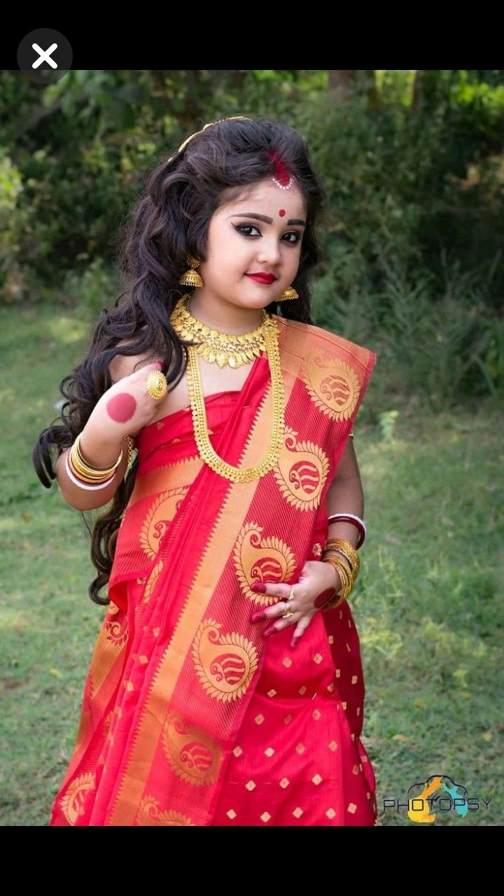 Waru Bengali Look With Images Baby Girl Dresses Baby Boy