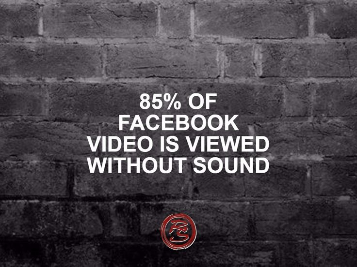 Did you know that 85% of Facebook video is viewed without sound? SUBTITLES PLEASE! Ensure viewers don't miss out on anything in the audio.    #RockSocial #RockSM #Facebook #Video #FacebookVideo #SMM