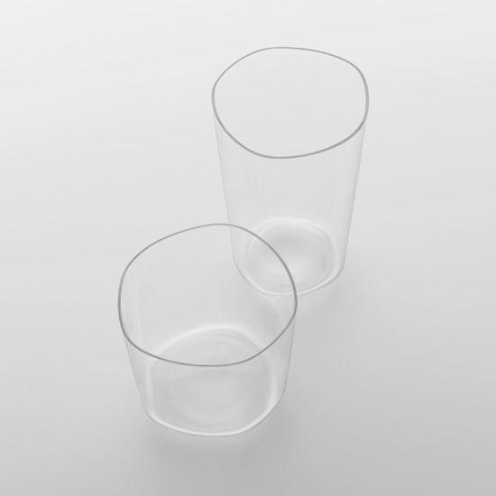 """organic glassware """"ice"""" of the """"contrast"""" series by Ichiro Iwasaki http://www.iwasaki-design-studio.net/"""