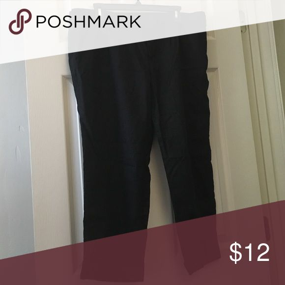 Black linen pants Lightweight, comfy black linen pants. Size 14 Mossimo Supply Co. Pants Ankle & Cropped