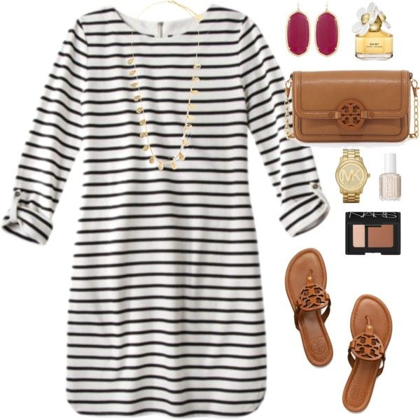 A fashion look from July 2014 featuring Tory Burch sandals, Tory Burch shoulder bags and Kendra Scott earrings. Browse and shop related looks.