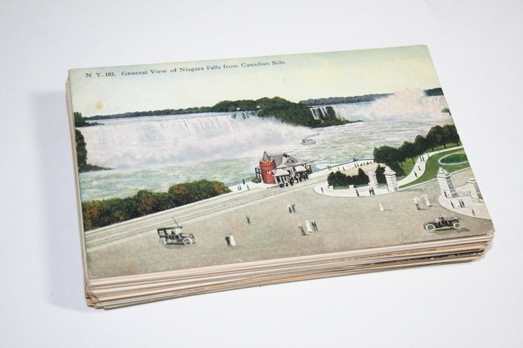75 Vintage Niagara Falls  New York Postcards Blank - Travel Themed Wedding Guestbook. $56.25, via Etsy.