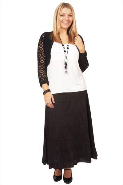 Plus Size Skirt Skirts Denim Black