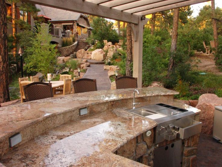 683 best Outdoor Bars & Kitchens images on Pinterest | Outdoor ...
