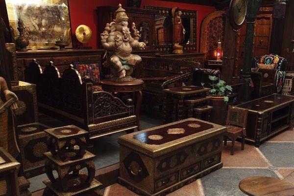 Индийская мебель, восточный стиль, восточный интерьер и дизайн