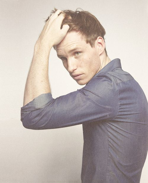 Eddie Redmayne. I believe this is a shot from a shoot for the film Hick.
