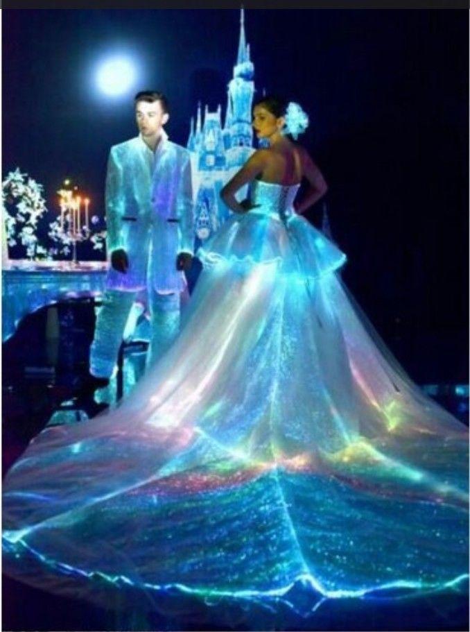 Technics: LED Lighting Luminous. Trademark: SZ Fashion Luminous Clothing. Glowing fiber optic dress with ultra bright rainbow color changing LED's. Unique design & High quality, long time experience on making luminous costumes. | eBay!