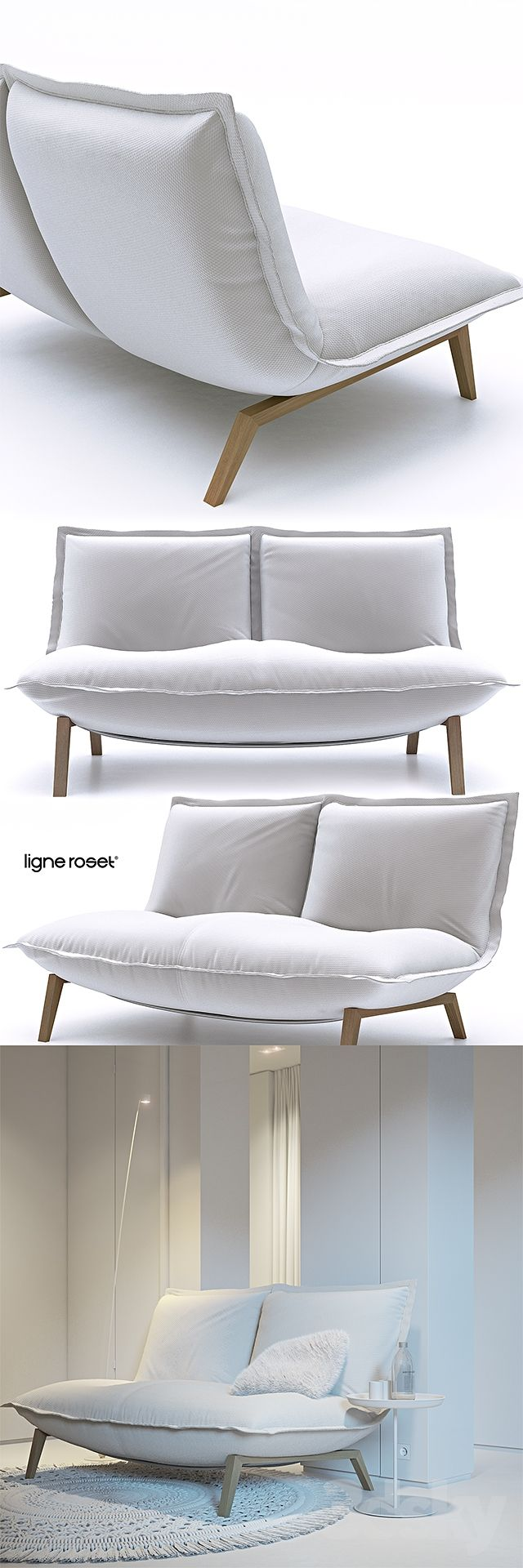 Island dining chair by ligne roset modern dining chairs los angeles - 3d Models Sofa Ligne Roset Calin Sofa Ligne Rosetupholstered Furniturechairssofasmodelsfacility
