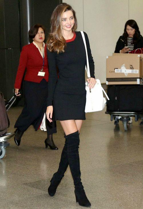 12/11 #ミランダ・カー #ニットワンピース #サイハイブーツ #サマンサタバサ |海外セレブ最新画像・私服ファッション・着用ブランドまとめてチェック DailyCelebrityDiary*