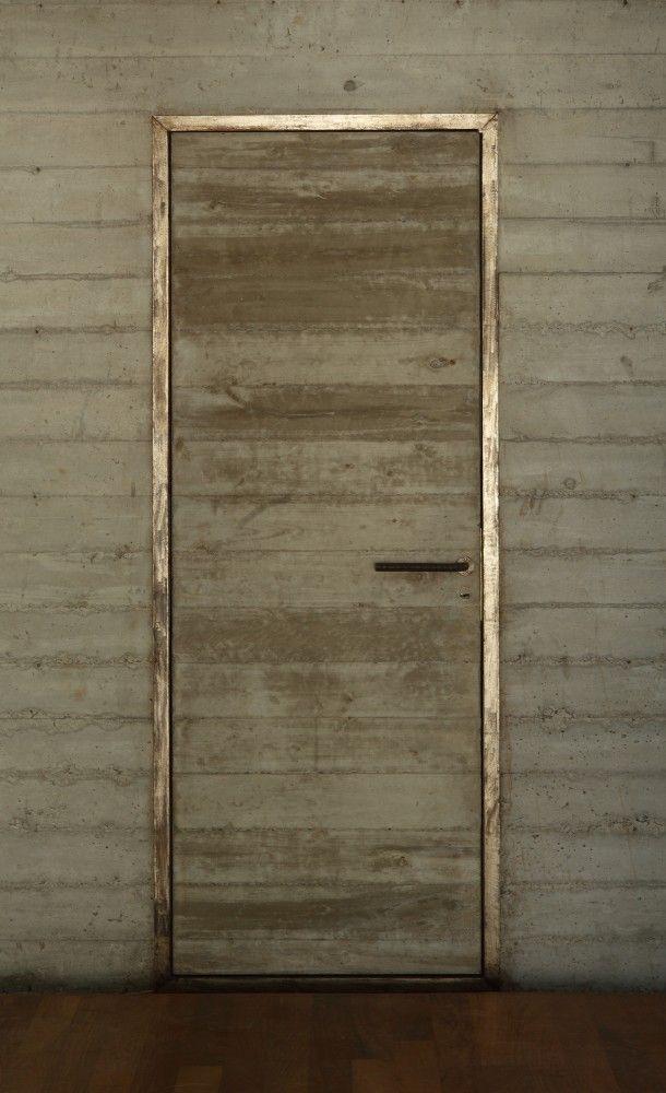 metallic door frame.