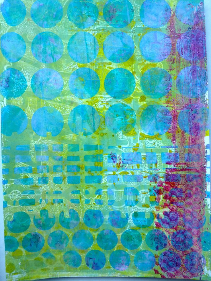 Gelli Plate mono-prints for art journals and more by Nicole Maki of Made by Nicole - SO PRETTY!