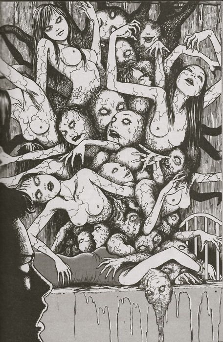 • scary art blood Black and White anime japanese creepy weird wtf horror gore b&w manga Macabre spooky arts terror freaky horrifying disturbing bloody japanese horror bizzare terrifying wtfchrisstuff •