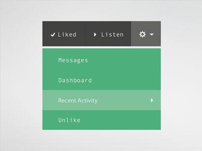 Menu - Web app interface UI UX
