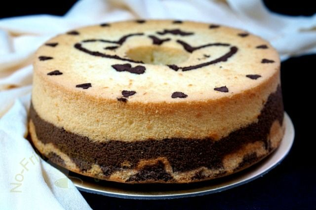This soft and moist chiffon cake has a combination of orange and chocolate flavour and the texture is light and cottony. To give it a fa...