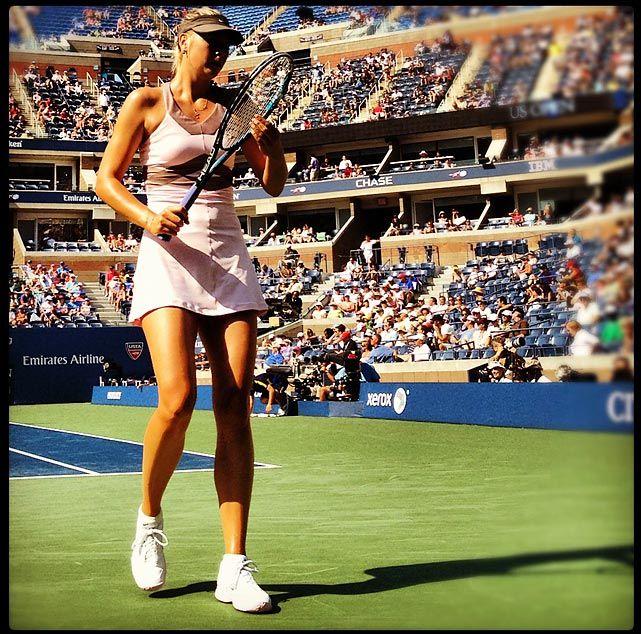 Maria Sharapova moves on to the Semis after defeating Bartoli in three sets. #USOpen #Tennis