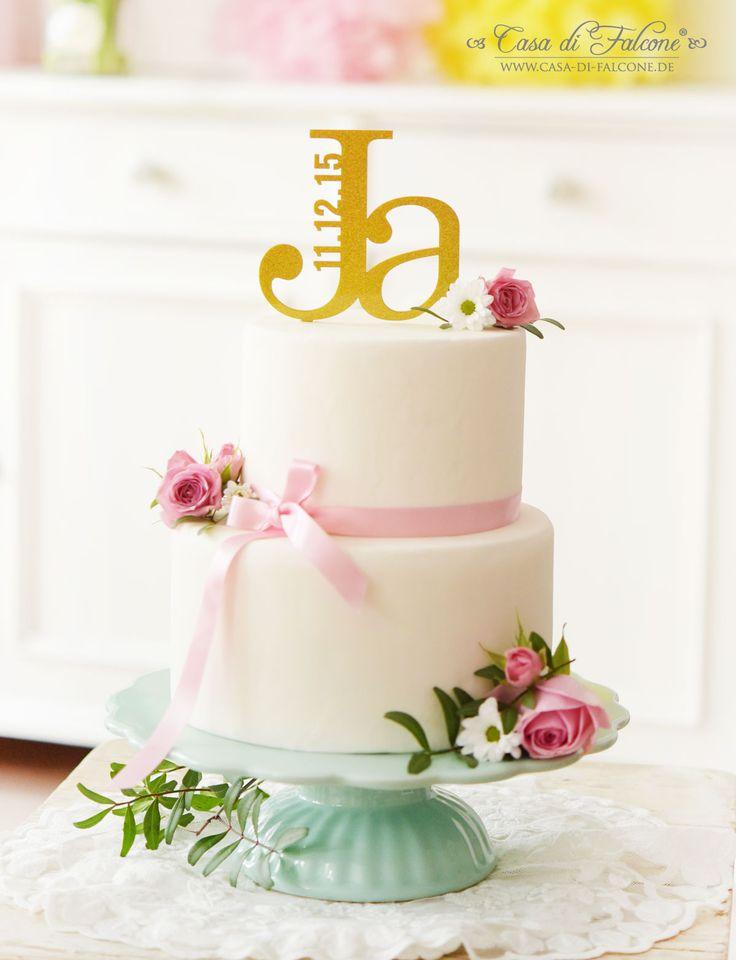 Cake Topper für die Hochzeit in gold glitzer I wedding cake I Casa di Falcone