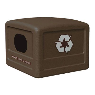 Commercial Zone Green Zone Industrial Recycling Bin with Decals