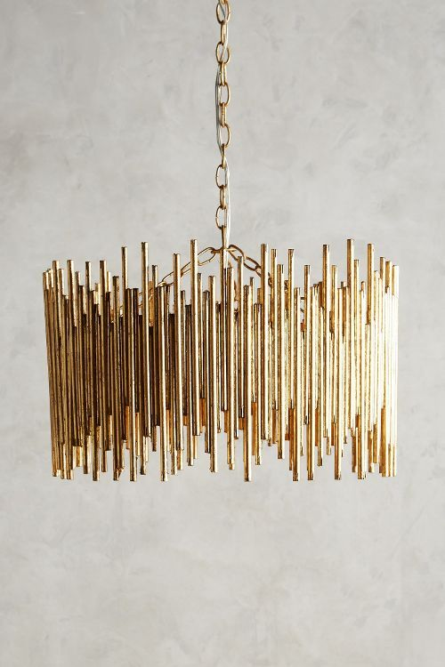 Gathered Glow Golden Brass Chandelier. Available here: http://rstyle.me/n/cfzhvmbcukx