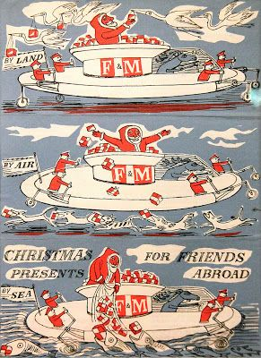 """By Land, By Air, By Sea: Christmas Presents for Friends Abroad"" by Edward Bawden for Fortnum & Mason"