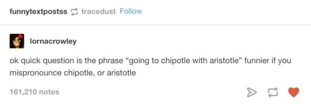 """This baffling question that has no true answer. 