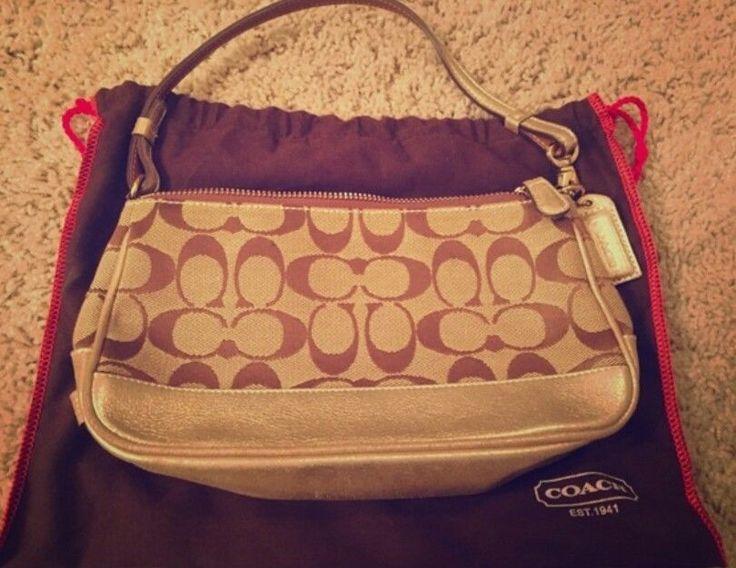 Authentic Coach Clutch Signature C w Gold #G052-1861 | Clothing, Shoes & Accessories, Women's Handbags & Bags, Handbags & Purses | eBay!