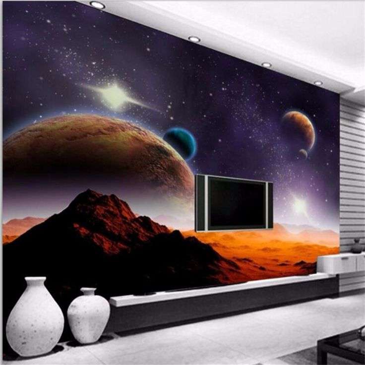 Beibehang Custom photo wallpaper Modern space Planet Moon Star Mars simple living room sofa background 3d wall murals wallpaper