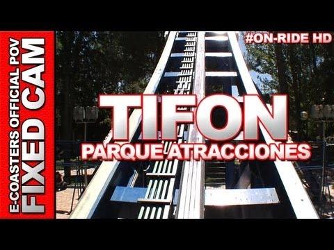 Vidéo embarquée du roller coaster Tifon situé dans le parc d'attraction @Parque de Atracciones Madrid en Espagne. N'hésitez pas à venir découvrir sur notre channel Youtube, nos plus de 200 vidéos On-Ride : http://www.youtube.com/ecoasters !!