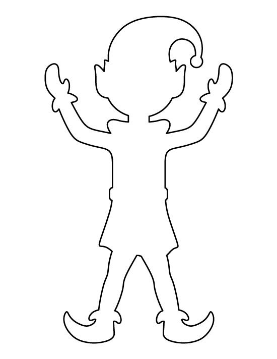 elf on the shelf coloring pages pdf | Elf pattern. Use the printable outline for crafts ...