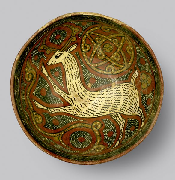 "Slip Painted Bowl - ADC.108 Origin: Central Asia Circa: 10 th Century AD to 11 th Century AD Dimensions: 3.74"" (9.5cm) high x 9.13"" (23.2..."
