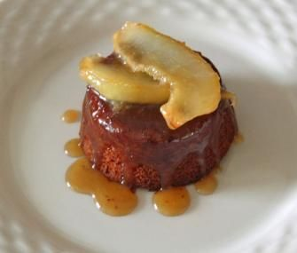 Sticky Ginger Fig Cake with Caramelized Pears