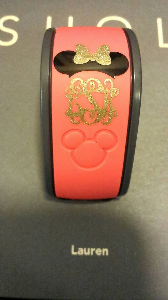 Glitter Magic Band Mickey or Minnie Mouse by SassyMonogramAndMore