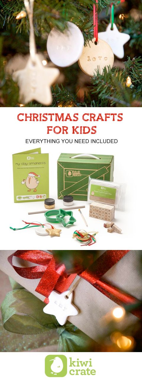 Holiday and Christmas craft kits for kids delivered to your door with everything you need included.